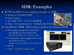 sdr examples