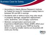 business case for safety