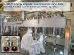 i atlas energy upgrade commissioned june 2009 exceeds previous state of the art at triumf by 50