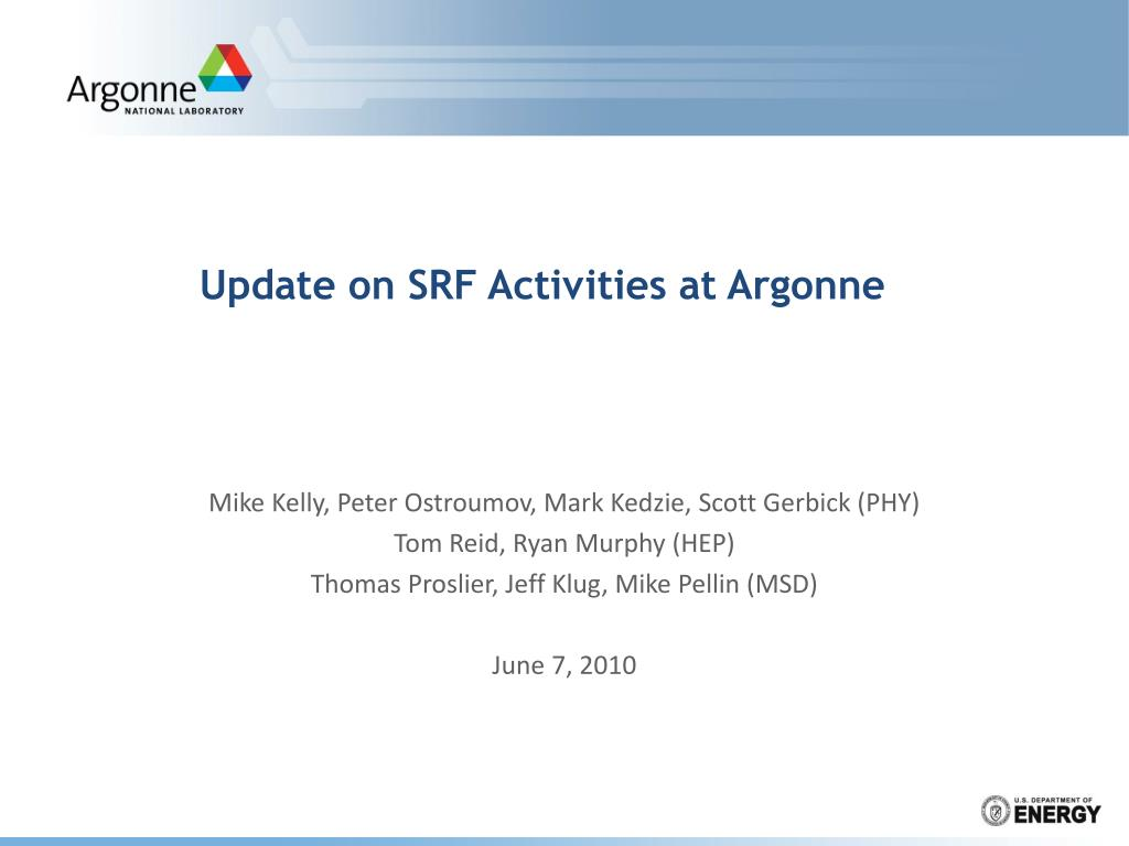 update on srf activities at argonne l.