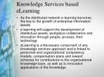 knowledge services based elearning