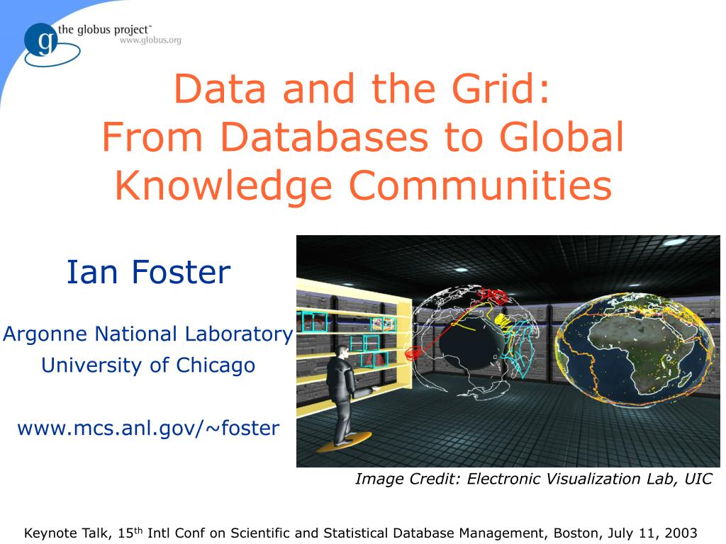 data and the grid from databases to global knowledge communities l.