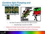combine spin pumping and inverse hall effect
