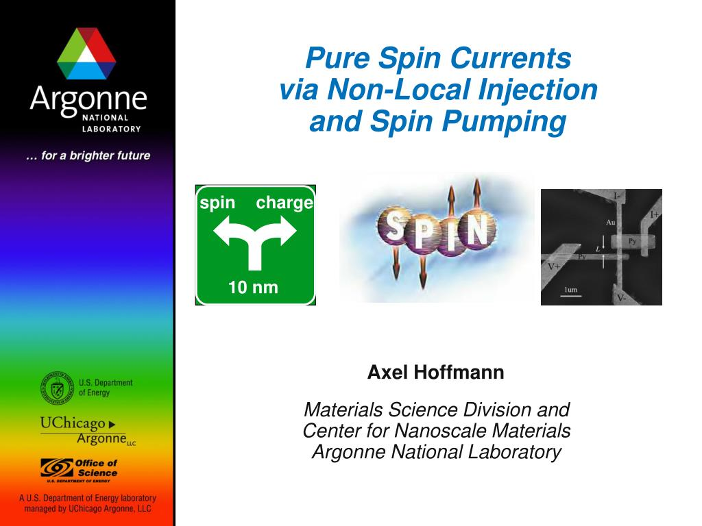 pure spin currents via non local injection and spin pumping l.