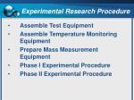 experimental research procedure