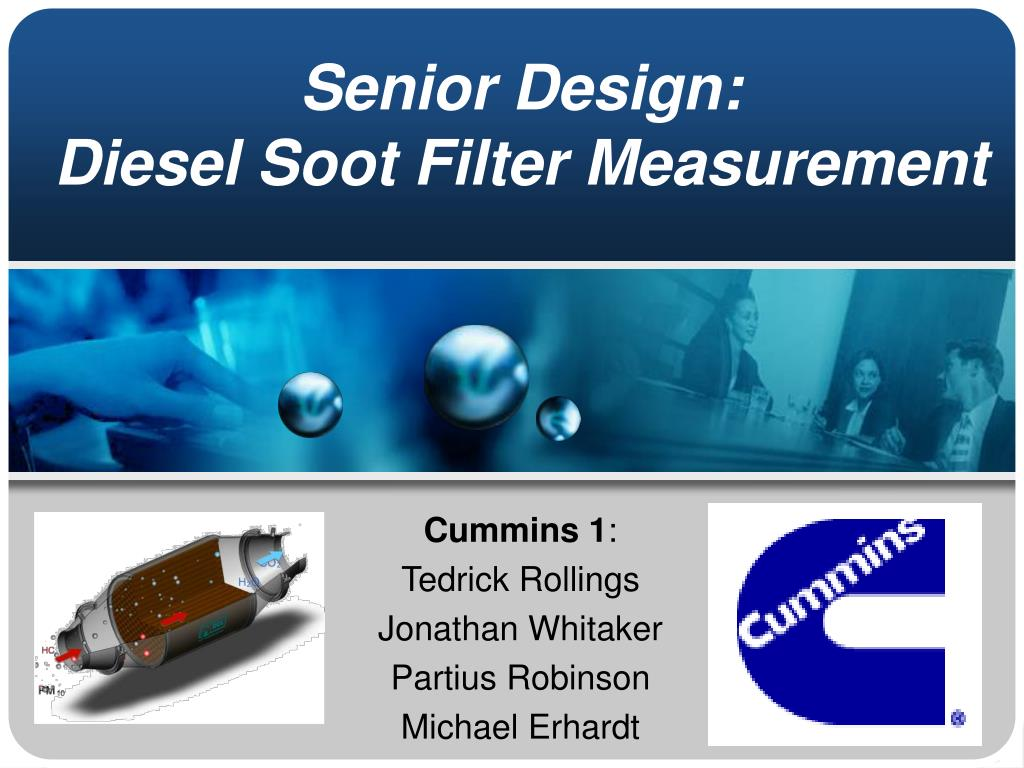 senior design diesel soot filter measurement l.