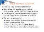 data storage interface