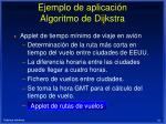 ejemplo de aplicaci n algoritmo de dijkstra