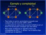 ejemplo y complejidad