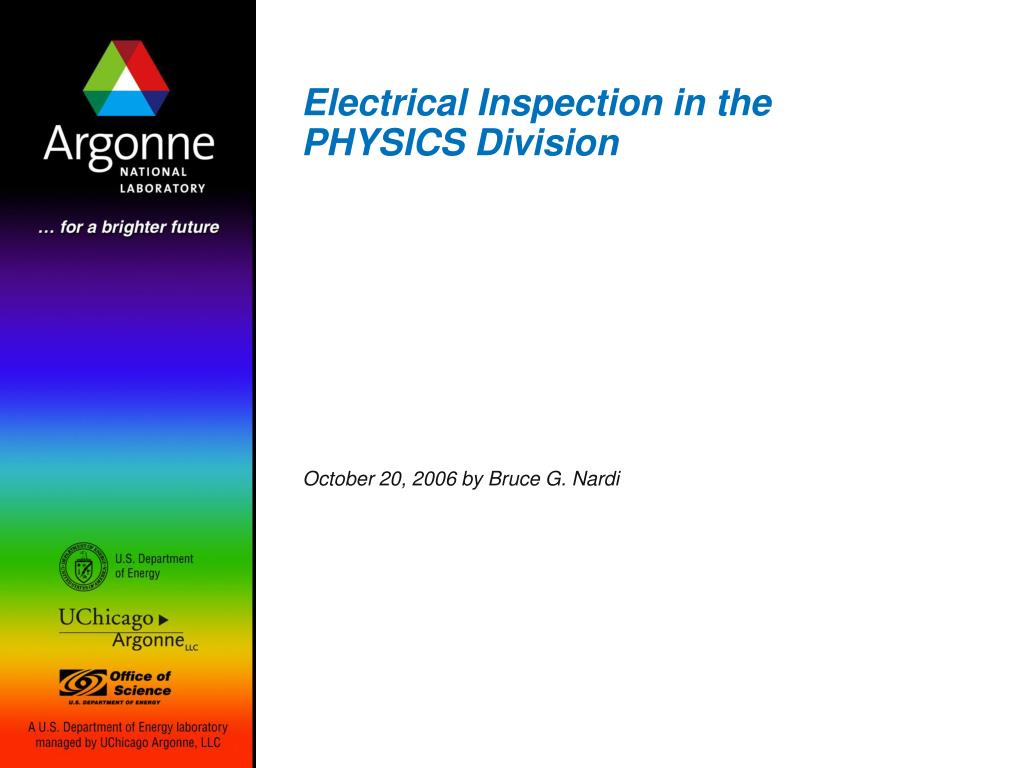 electrical inspection in the physics division l.