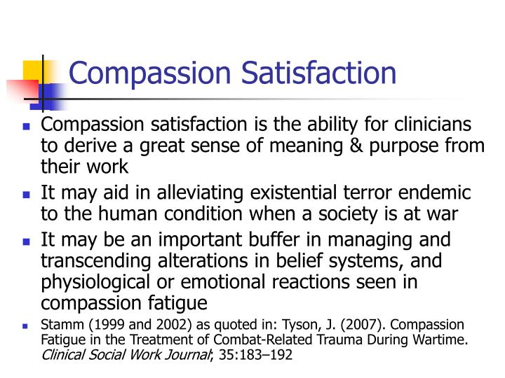 combating compassion fatigue 2 essay Custom combating compassion fatigue essay paper writing service buy combating compassion fatigue essay paper online without any doubt, the main aim of the hospital professionals and caregivers is to provide an effective treatment for the patients with showing devotion to others.