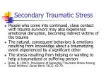 secondary traumatic stress