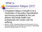 what is compassion fatigue cf