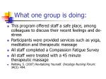 what one group is doing