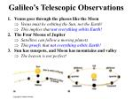 galileo s telescopic observations