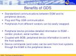 benefits of gds