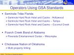 operators using gsa standards