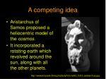 a competing idea