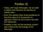 parallax 2