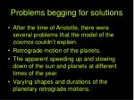 problems begging for solutions