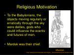 religious motivation