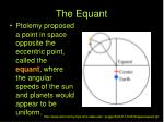 the equant