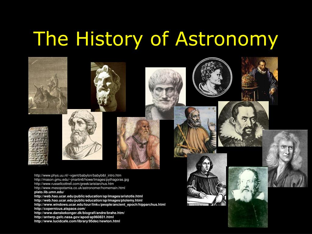 the history of astronomy l.