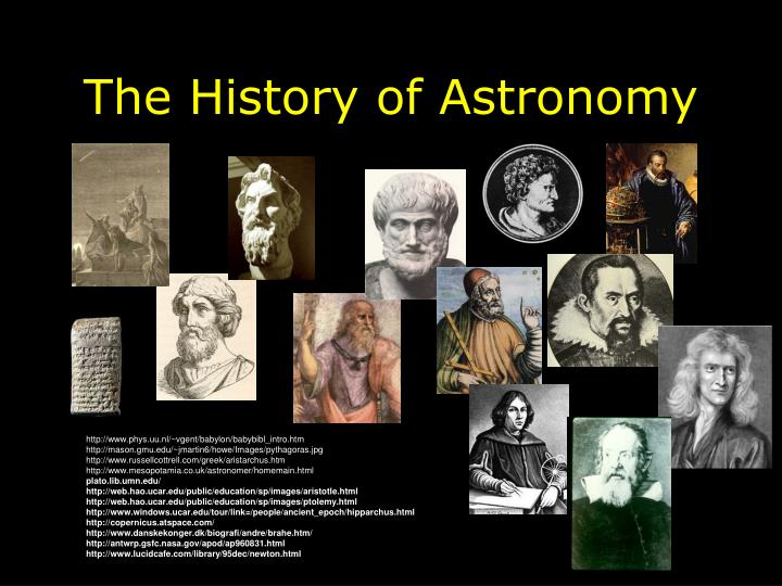 the history of astronomy n.