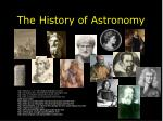 the history of astronomy