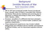 background invisible wounds of war rand corporation 200825