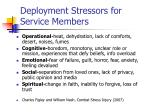 deployment stressors for service members