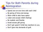 tips for both parents during reintegration
