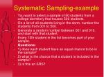 systematic sampling example