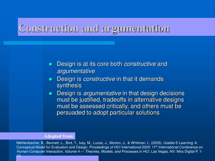 Construction and argumentation