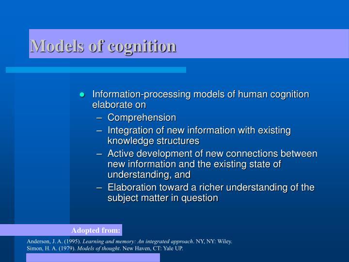 Models of cognition