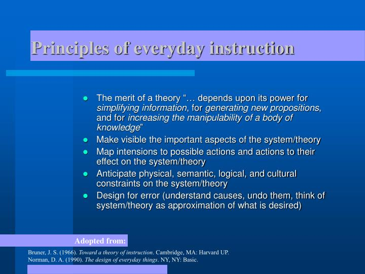 Principles of everyday instruction