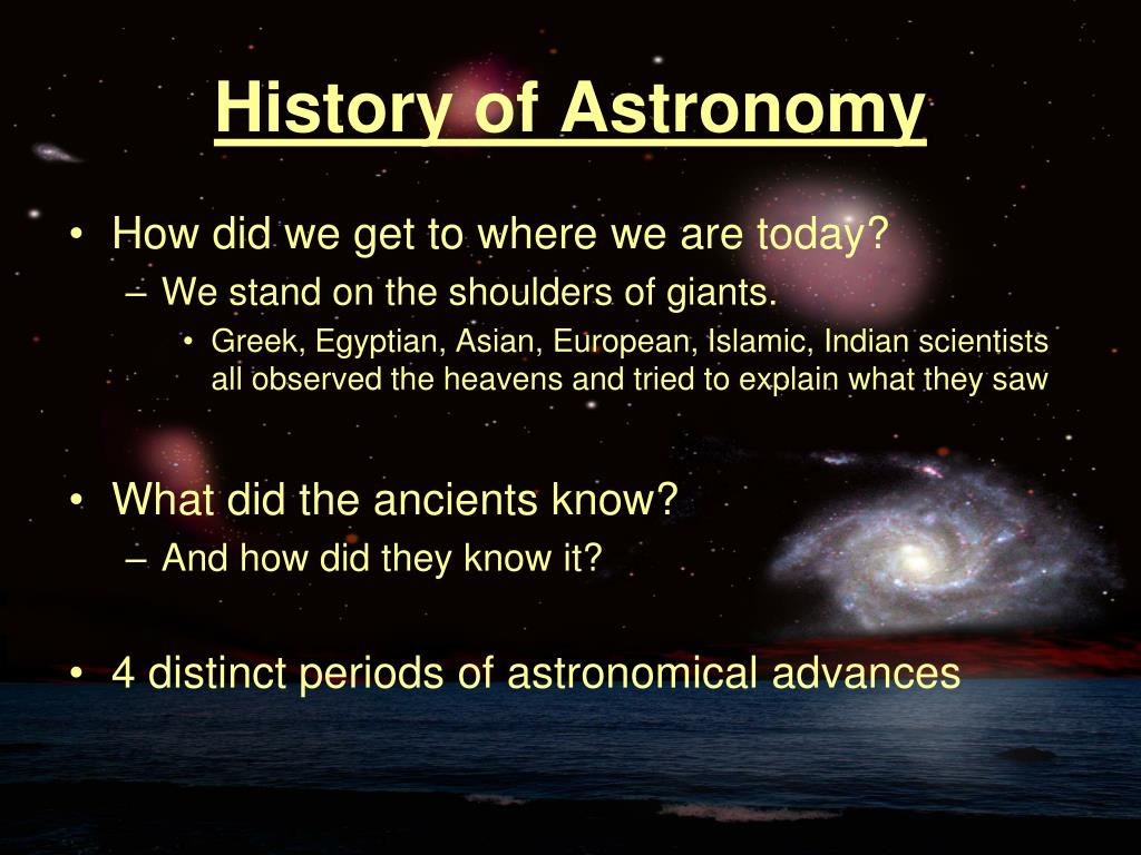 history of astronomy l.