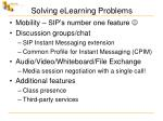 solving elearning problems