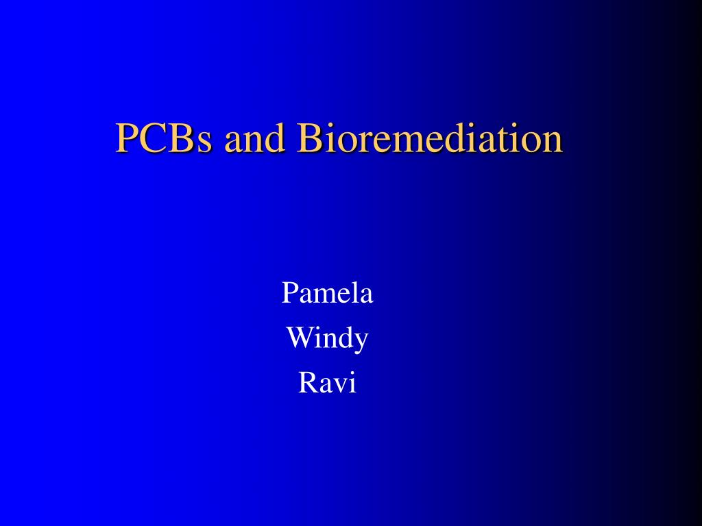 pcbs and bioremediation l.