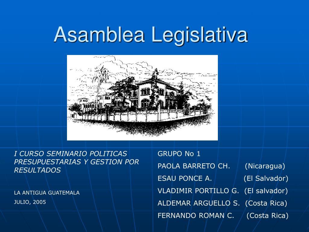 asamblea legislativa l.