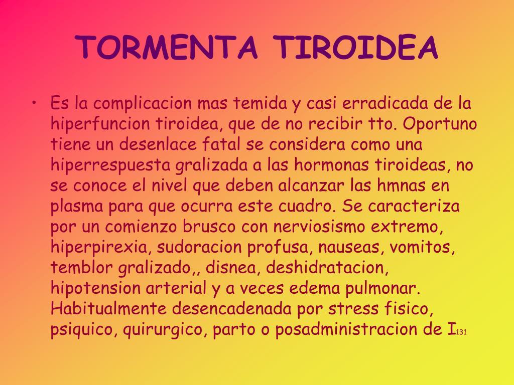 dieta para tormenta tiroidea