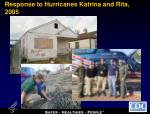 response to hurricanes katrina and rita 2005