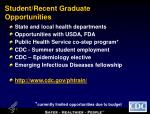 student recent graduate opportunities