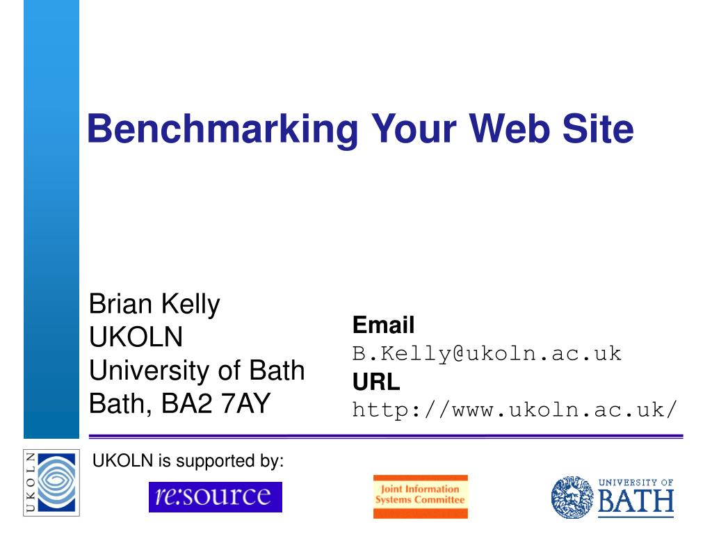 benchmarking your web site l.