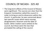 council of nicaea 325 ad1