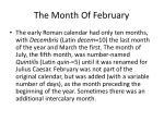 the month of february3