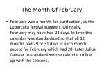 the month of february4