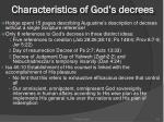 characteristics of god s decrees