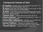 compound names of god