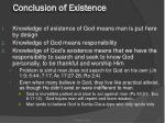 conclusion of existence